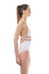 White Cage Once Piece Swimwear