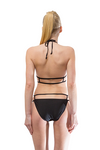 Black Halter Neck Cage Bikini Set