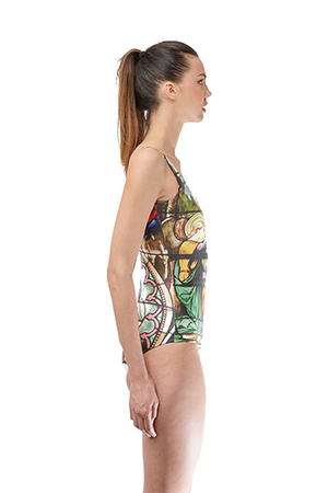 Breathable Pattern Printed Once Piece Swimwear