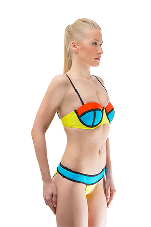 Colourful Block Bikini Set