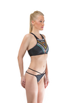 Black Halter Tankini Set Beachwear