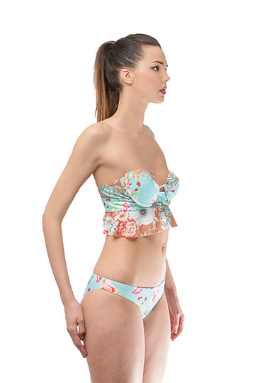 Strapless Brazilian Push up Swimsuit Set