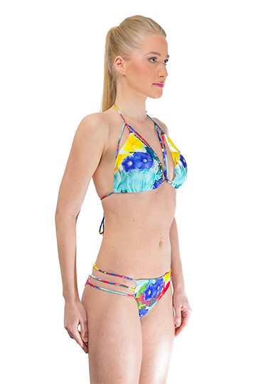 Tropical Print Brazilian Bikini Set