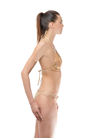 Gold Sequins Bikini Set