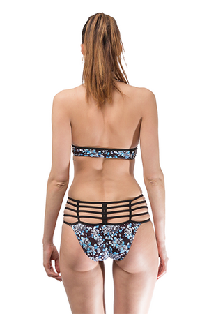 Print Hollow out Bikini Set