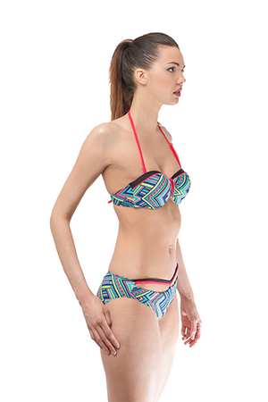 Halter Push up Printed Set