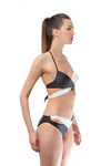 Black White Push up Swimwear Set