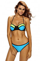 Colour Block Moulded Bandage Bikini