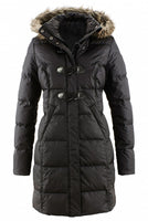 Toggle Button Quilted Coat Parka