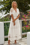 White Lace Summer Maxi Dress