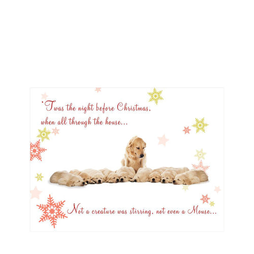 H - 'Twas the Night before Christmas' Christmas cards pack of 10