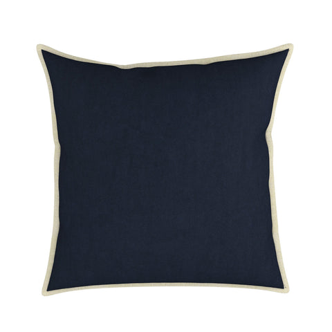 Aveline Velvet Pillow With Linen Flange, Set of 2