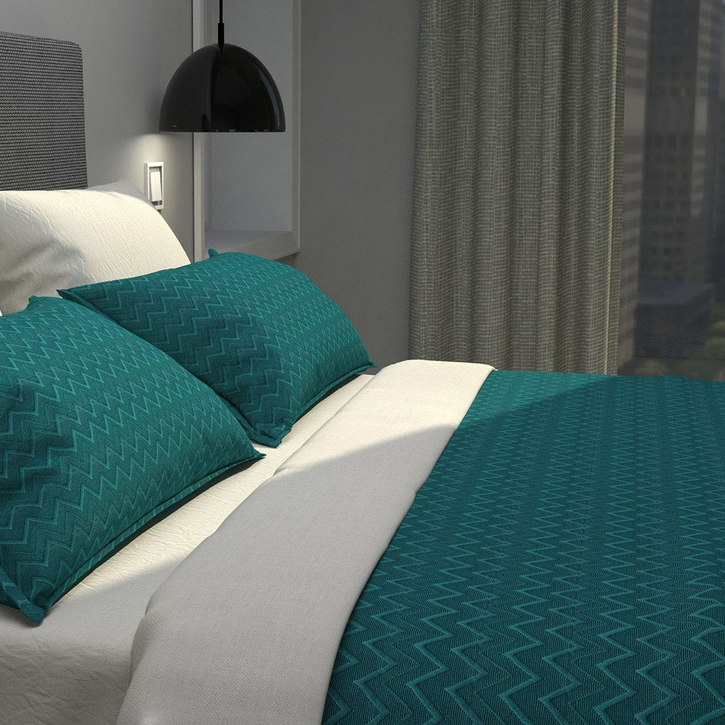 Cultured Soul Coverlet in Chevron