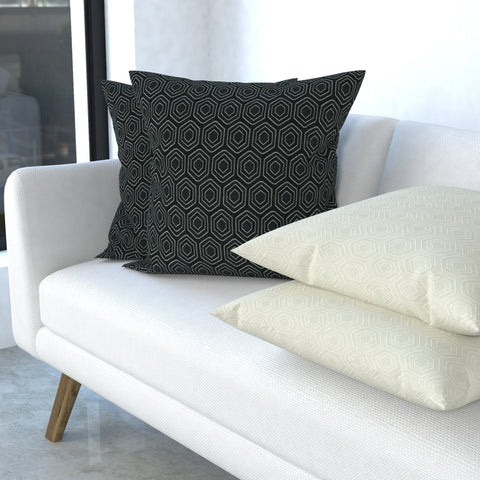 "Continuous Journey Pillow in Hexagon 22"", Set of 2"