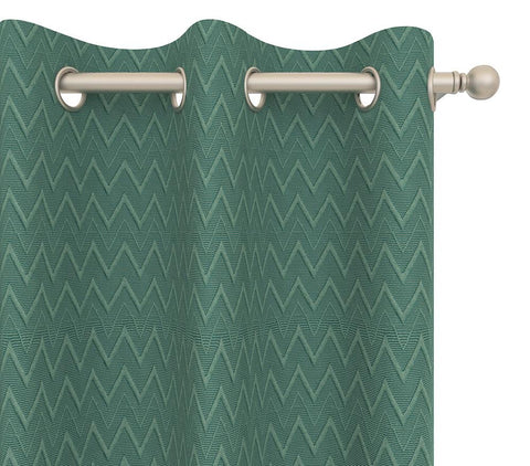 Cultured Soul Drapery Panel in Chevron Grommet 84