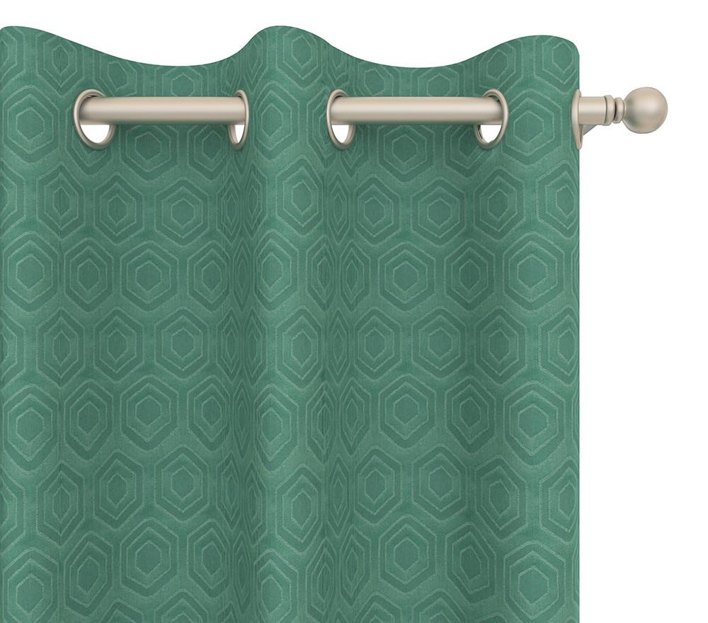 Pair of Continuous Journey Drapery Panels in Hexagon Grommet 84