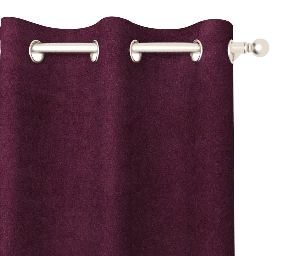 Marcelle Bleu' Drapery Panel in Plush Velvet Grommet 96
