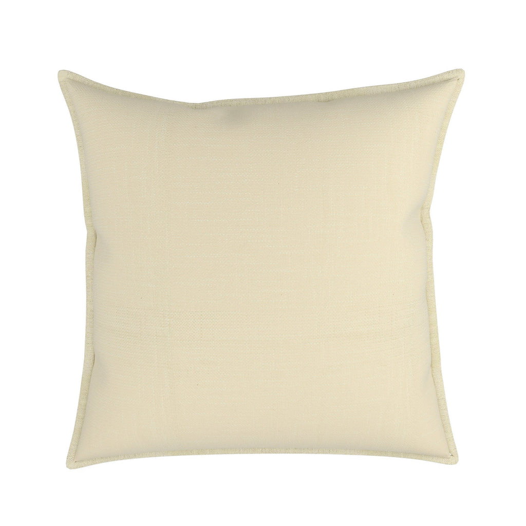 Pillow in London Linen With Natural Linen Flange, Set of 2