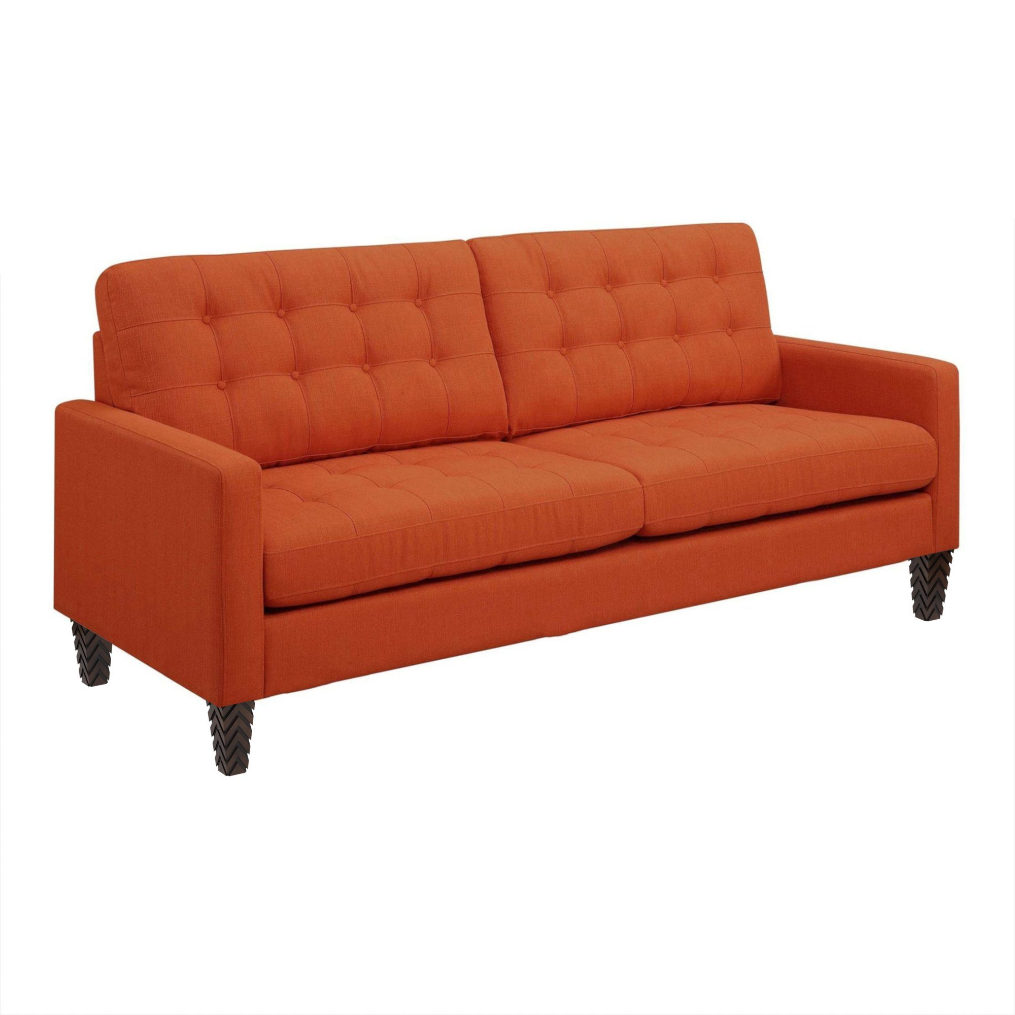 "Mid-Century Orange Kessa Sofa (85"")"