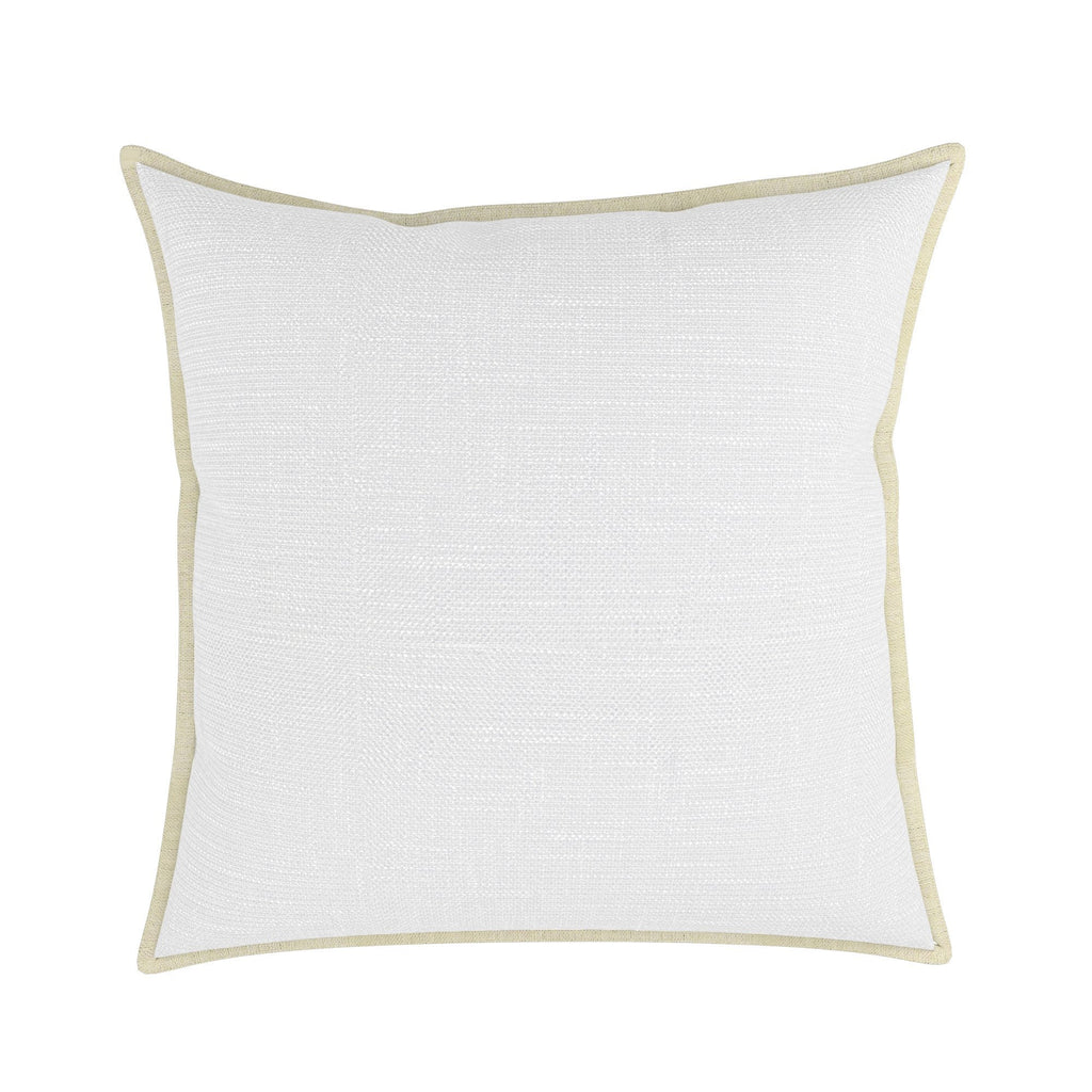 Pillow Cover in London Linen With Natural Linen Flange