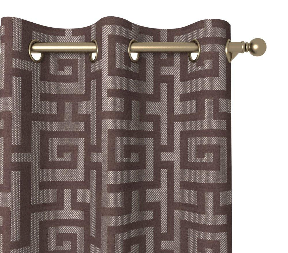 Continuous Journey Drapery Panel in Labyrinth Grommet 84