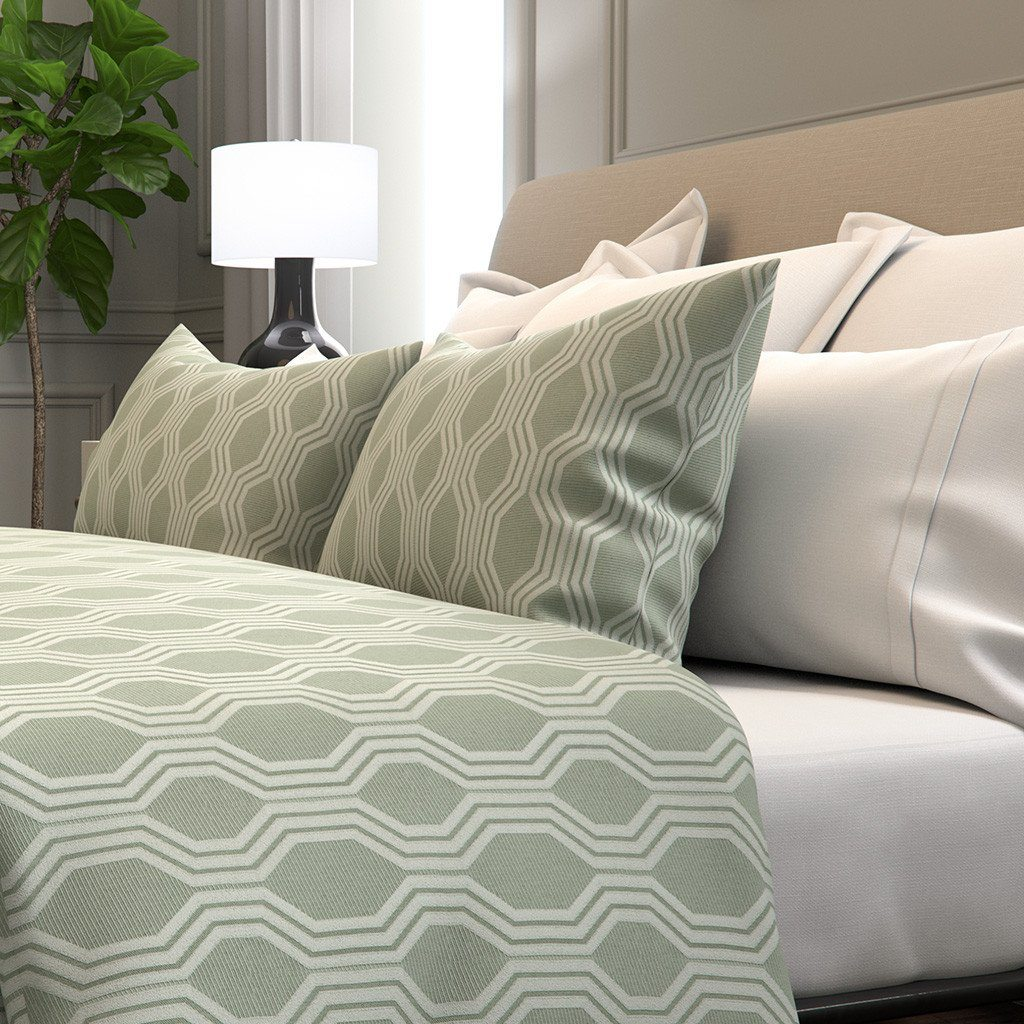 Marcelle Bleu Duvet Cover in Nina
