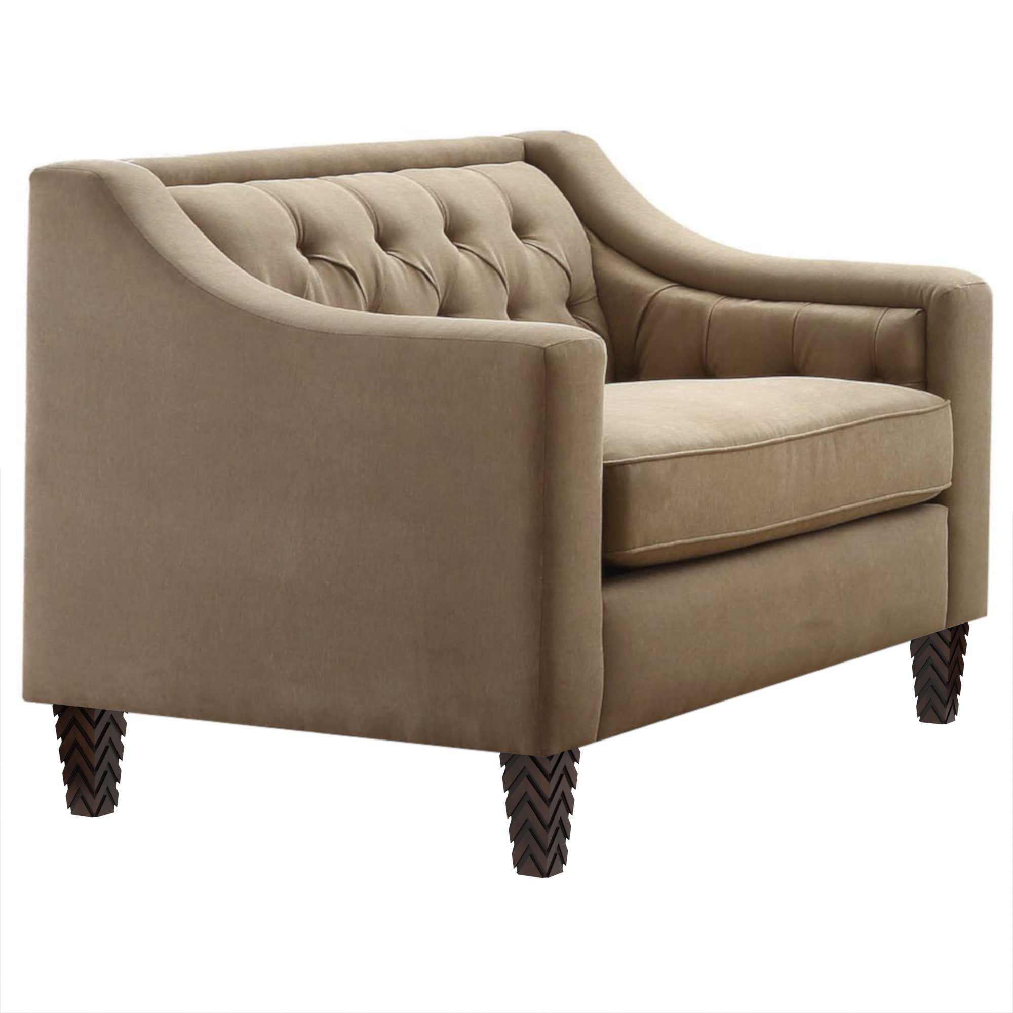 "Sukki Tufted Taupe Oversized Chair (41"")"