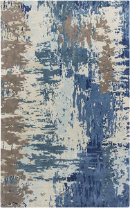 NAVY-LIGHT BLUE / 5' x 8'