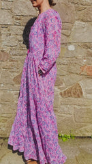 Seville printed cotton maxi dress