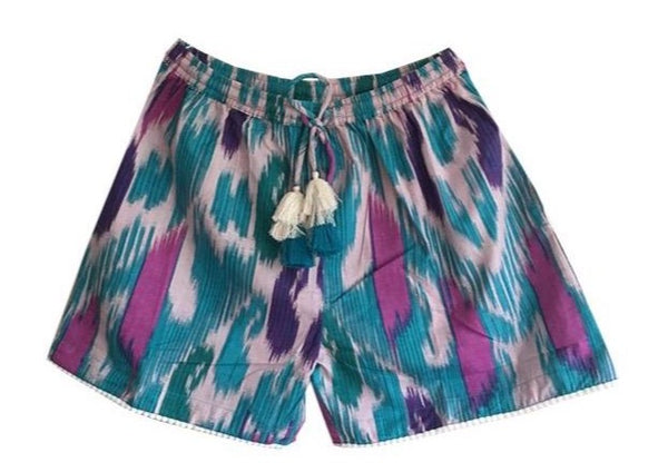 Block printed shorts Josie