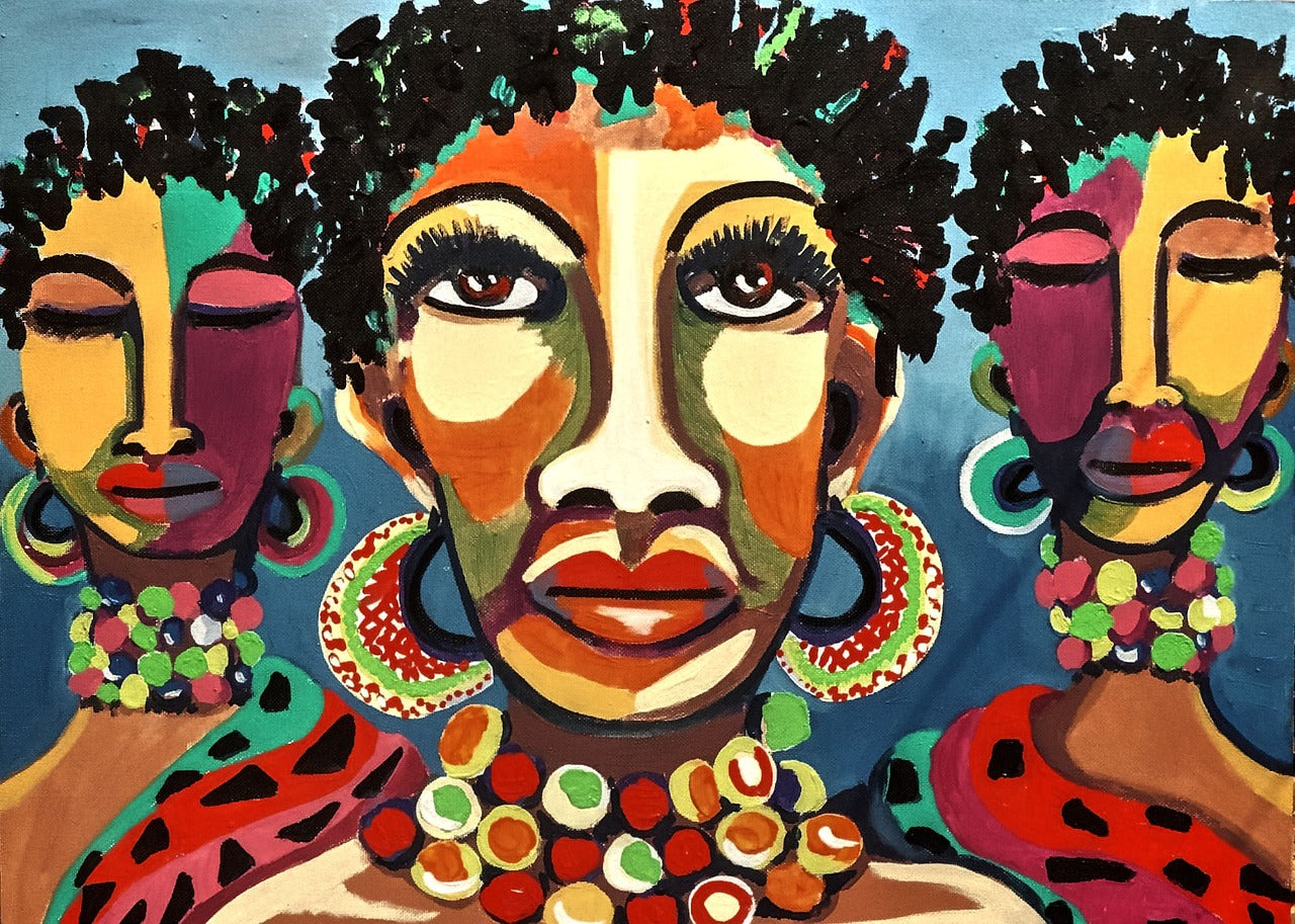 African Art Painting Old