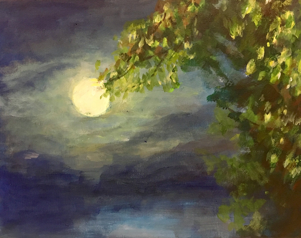 Super Moon, Linda Berkowitz, acrylic - wydr - find art you love - original paintings from up and coming artist