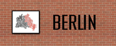 Berlin Typographic Map