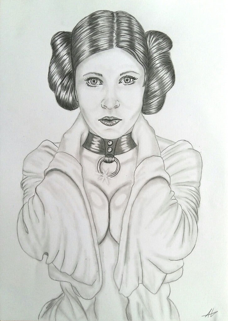 Pin Up Drawing: Princess Leia I