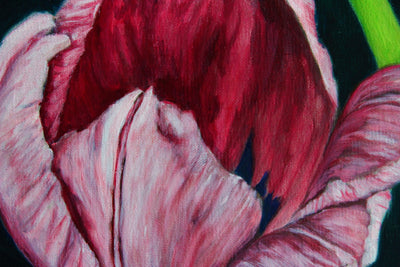 afekwo Oil on linen board Tulip Garden wydr - digital art gallery