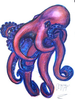 Art by Amy Frace Mixed-media Octopus II wydr - digital art gallery