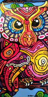 Art by Amy Frace Painting Groovy Owl wydr - digital art gallery