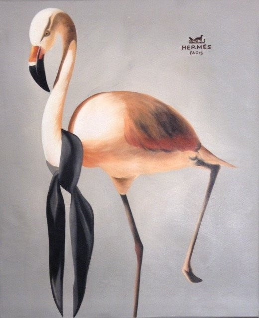 Art up your life Acrylic Flamingo wydr - digital art gallery