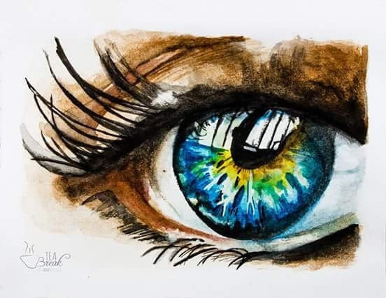 Bee Luckie painting Eye wydr - digital art gallery