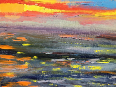 Bill Neary Oil on Canvas Sunset wydr - digital art gallery
