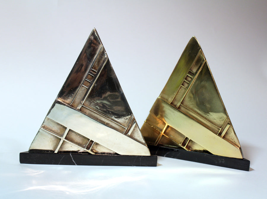 #codefc brass marble abstract pyramid wydr - digital art gallery