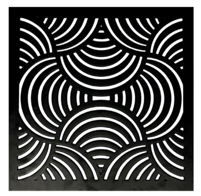 Decoranea Revestimentos lasercut MDF and lacquer finish Op Art black - lasercut MDF wydr - digital art gallery