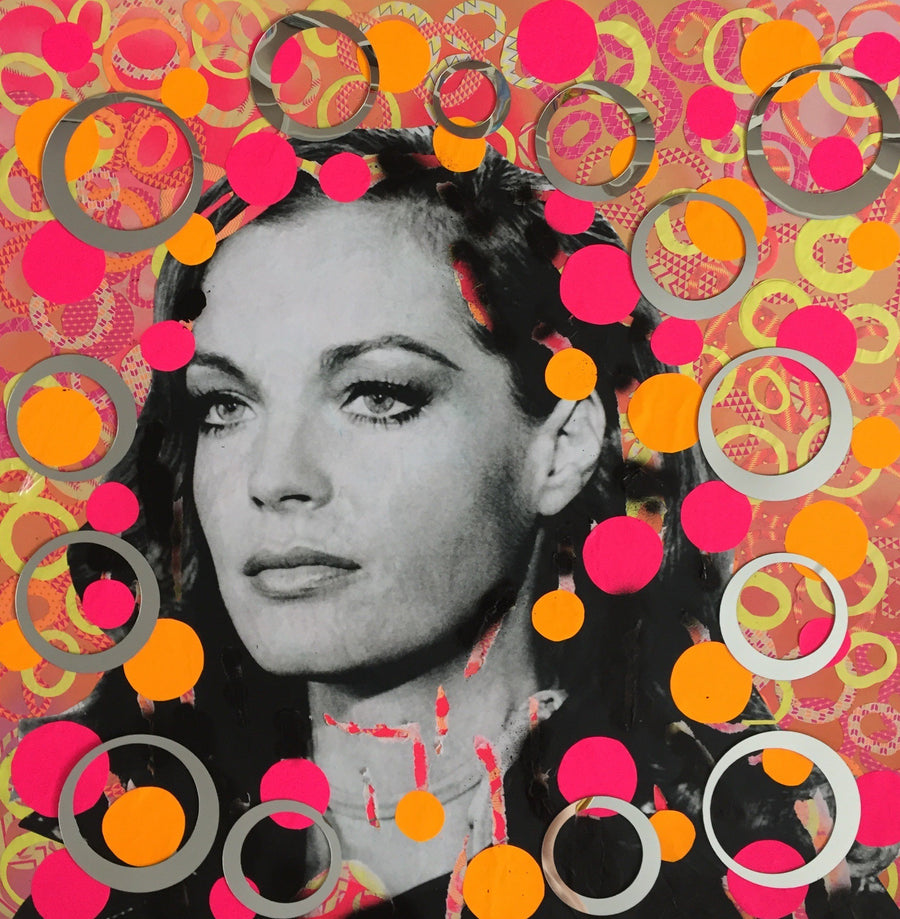 Diana Eger Mixed Media Collage Romy wydr - digital art gallery