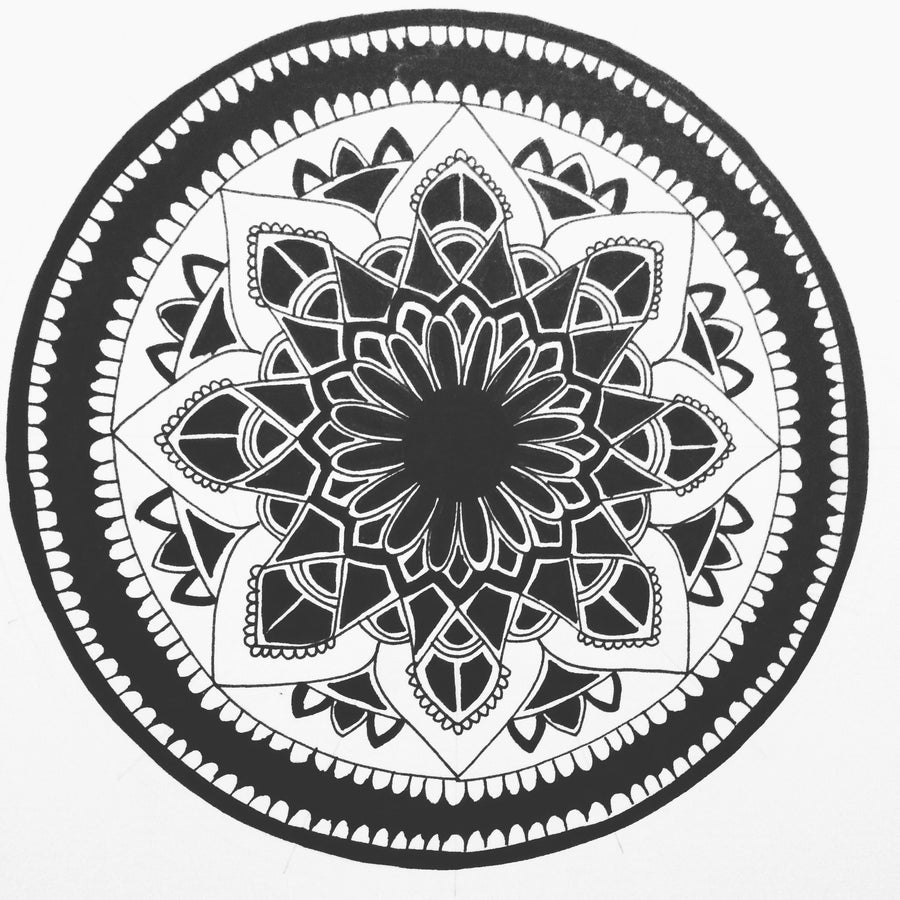 Domenica Egli Fineliner Mandala wydr - digital art gallery
