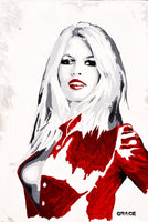 GRACE ACRILICO SU TELA ACRYLIC ON WHITE BRIGITTE BARDOT wydr - digital art gallery