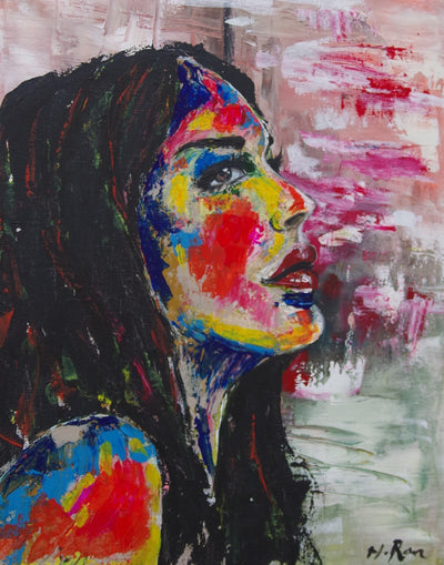 Haeran Boehler-Kim acryl colorful woman wydr - digital art gallery