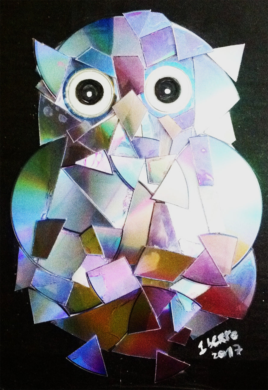 Humberto Matos Draw, Painting and recycling The Owl wydr - digital art gallery
