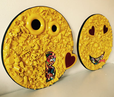 IoSpazio Resin,acrylic,wood,toys Road Emoticons - Love wydr - digital art gallery