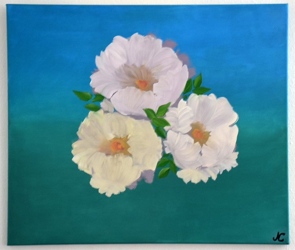 Iuliia Perepolkina Oil Painting On 1st Class Italian Canvas Beautiful Flowers wydr - digital art gallery