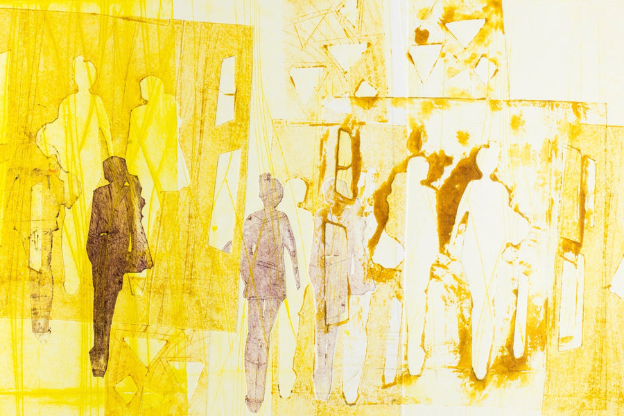 Jenya Hitz print Spring in the city (yellow) wydr - digital art gallery